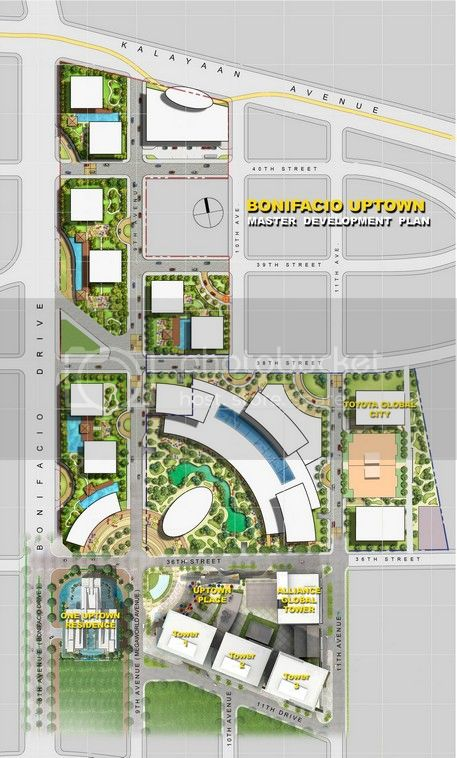 one uptown residence site development plan