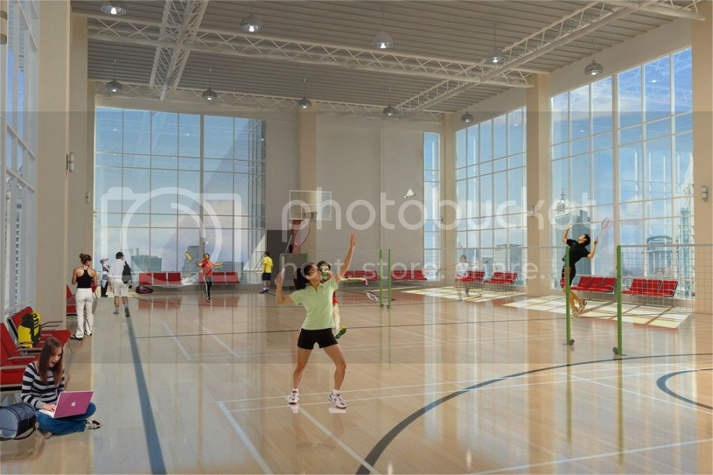 one uptown residence indoor baseketball court